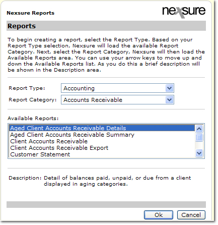Aged Accounts Receivable Details Report