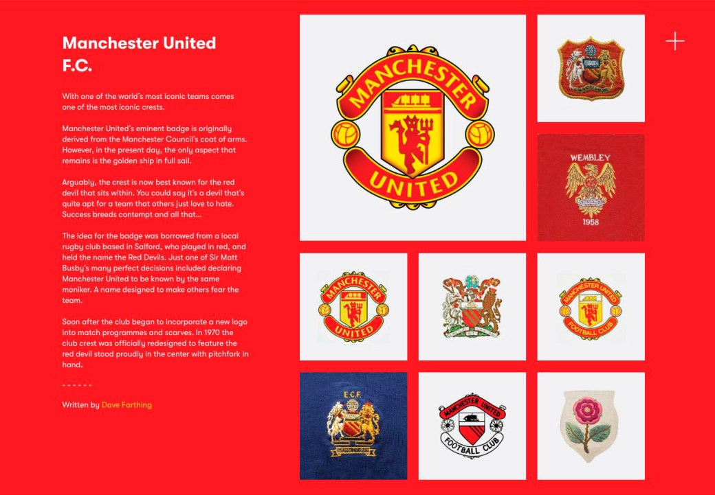 Manchester United F C - The Football Crest Index