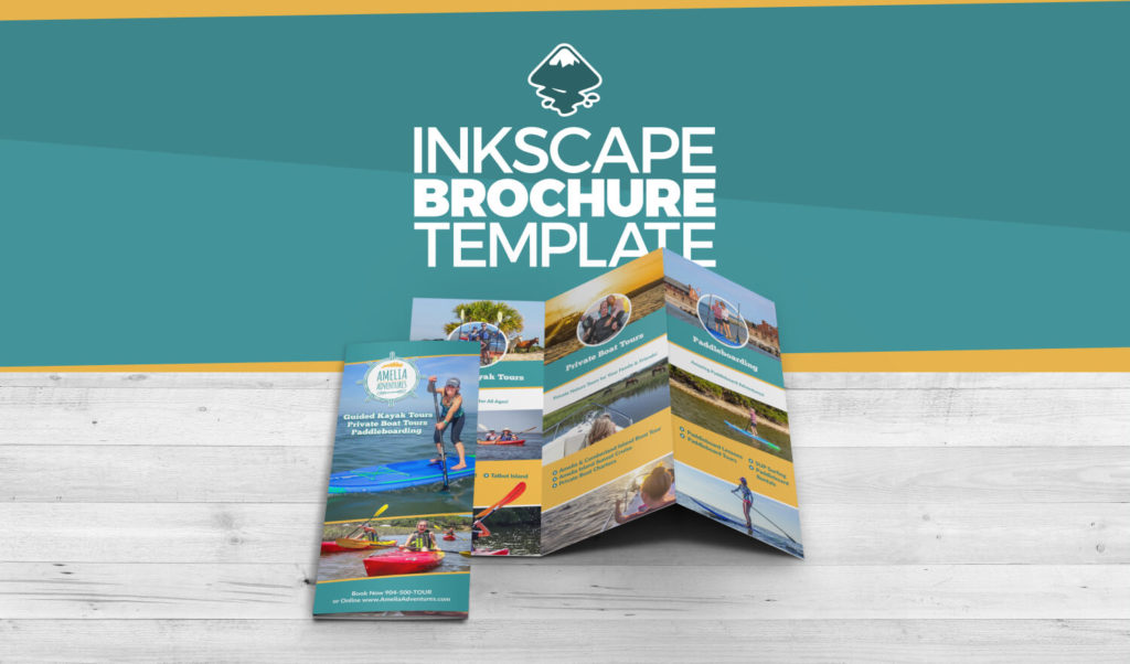 Inkscape Brochure Template Video Tutorial and Free Download