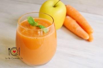 Receta de Smoothie de Zanahoria y Manzana