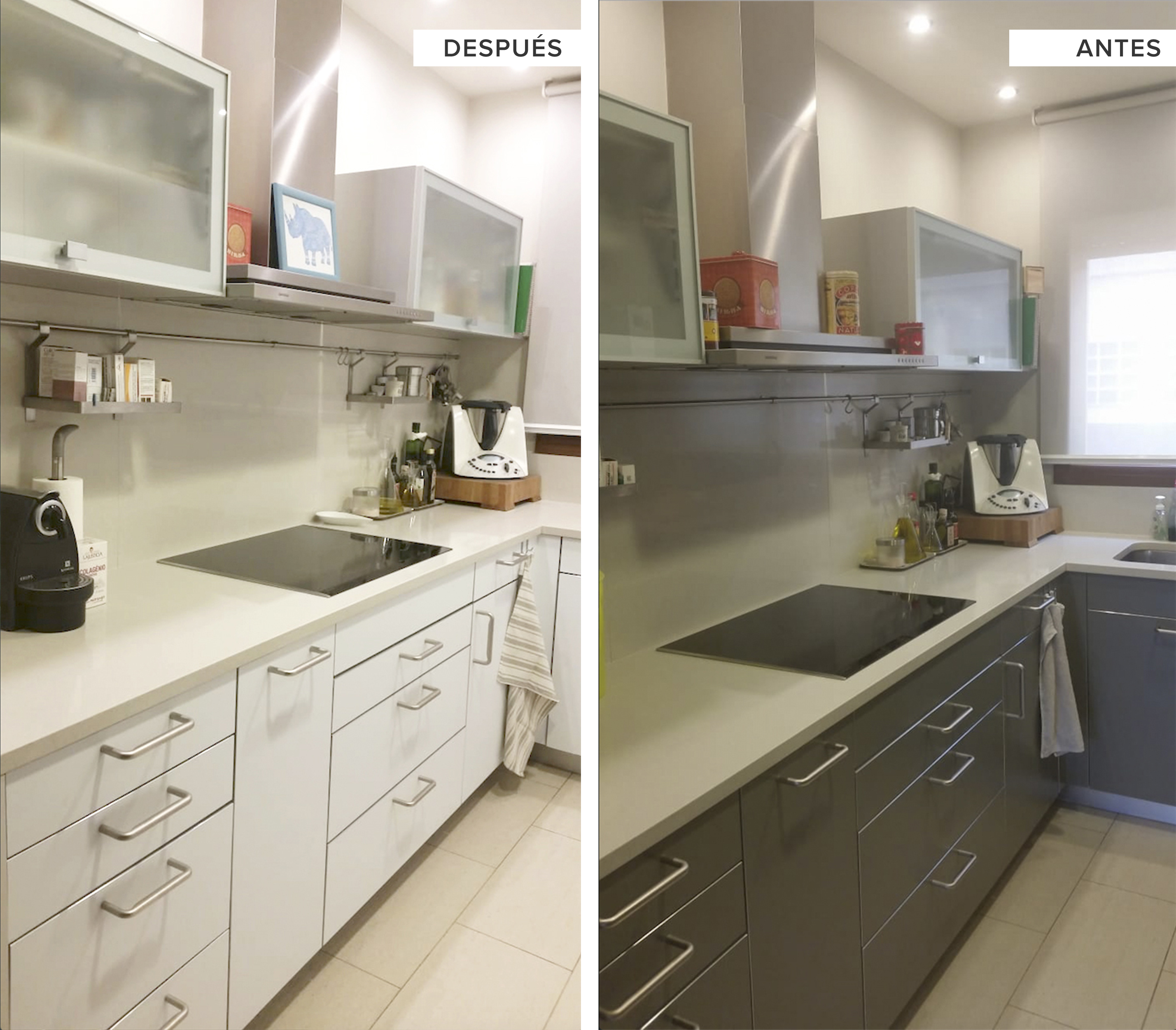Cocinas Sin Muebles Arriba | Muebles De Cocina Sin Tirador Pero Con ...