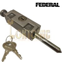 Federal Silver High Security Sliding Patio Door Lock ...