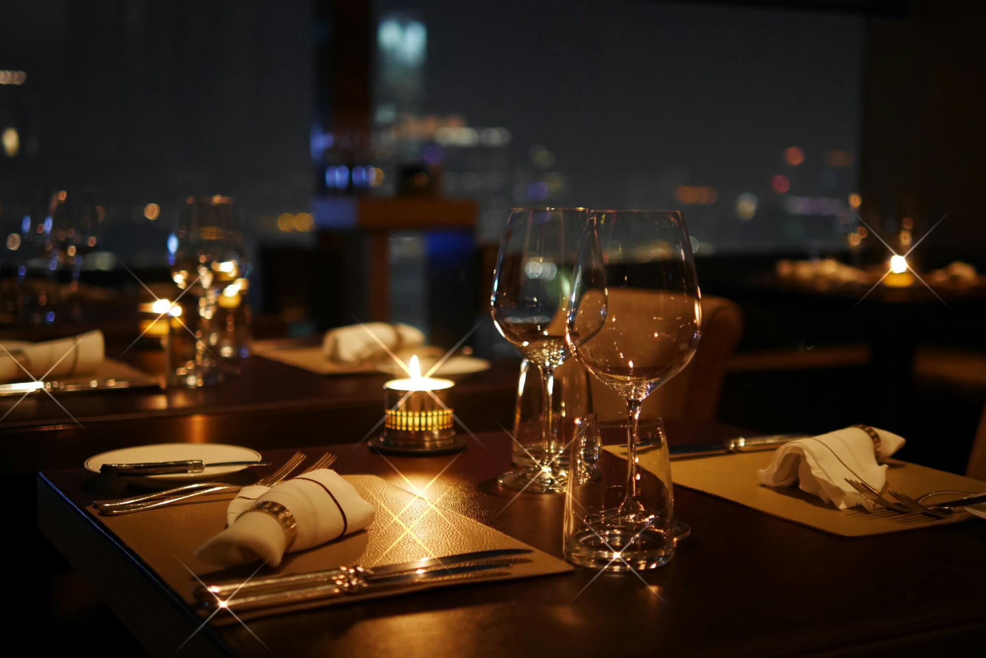 Cafe gray deluxe fine dining with delicious wines and
