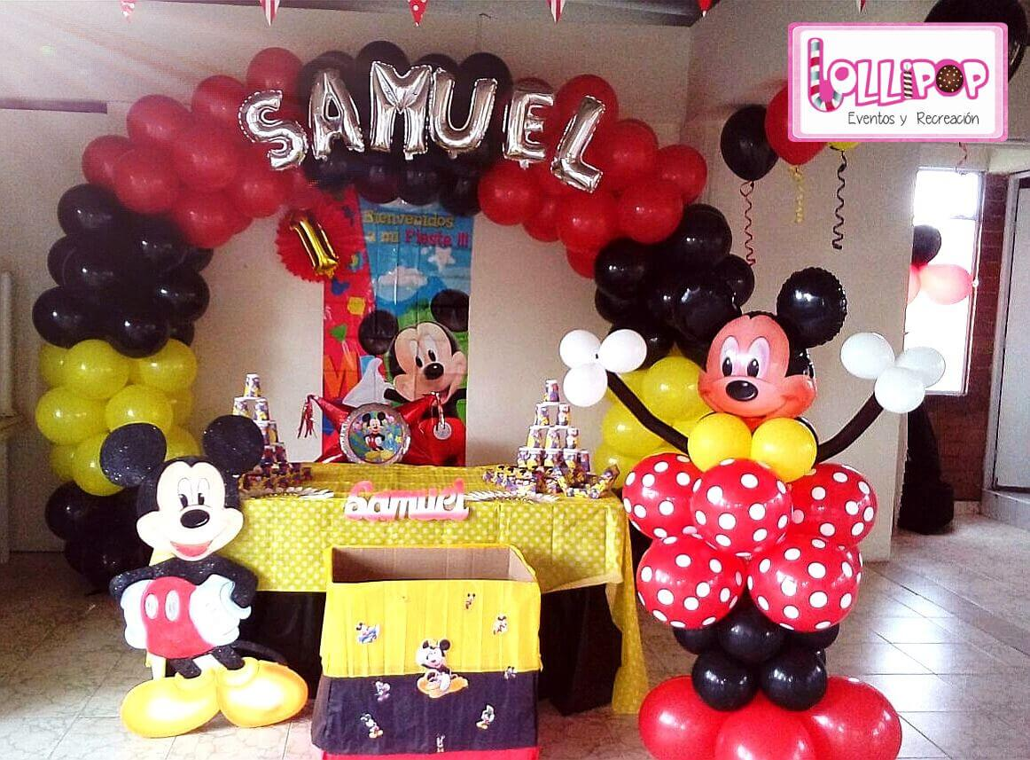 Decoraciones Infantiles De Mickey Decoración Mickey Mouse Plan Esmeralda Lollipop Recreación