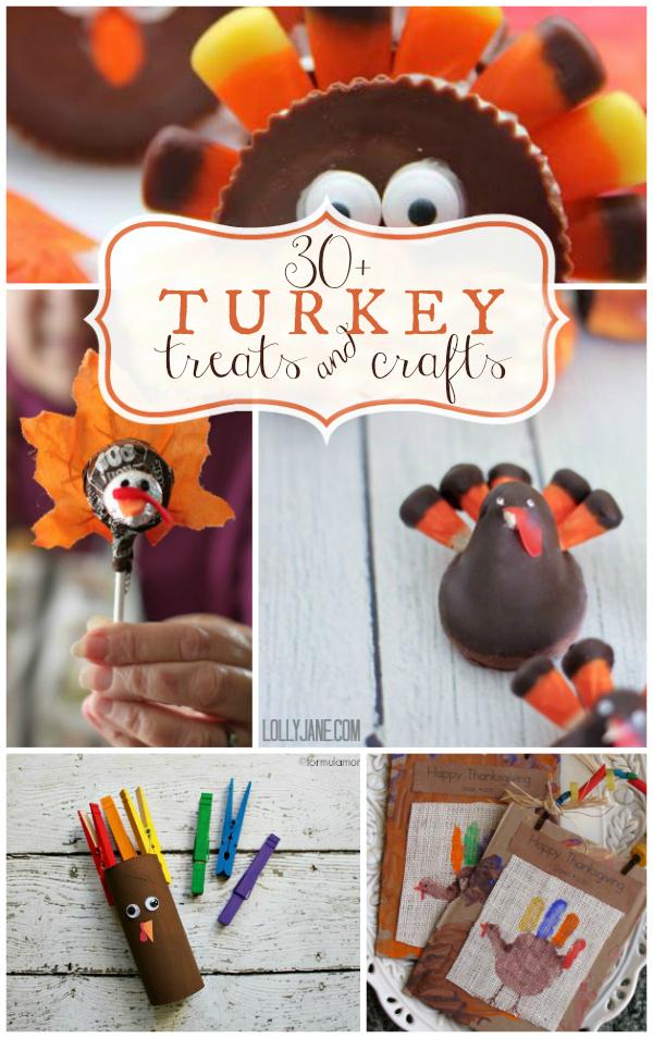 turkey treats and craft ideas