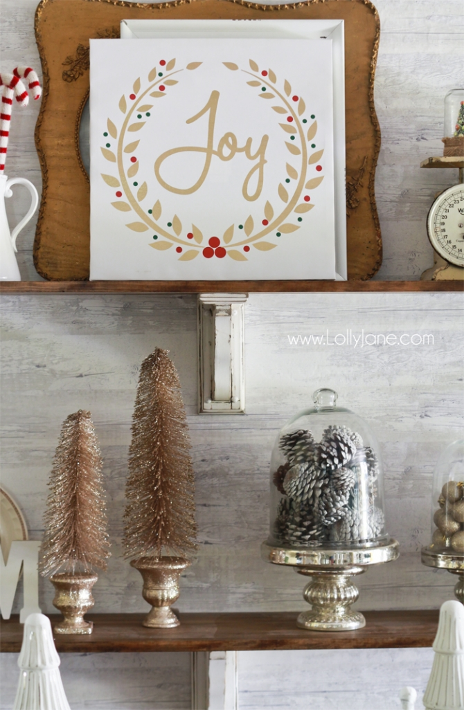 How To Decorate Shelves For Christmas Lolly Jane