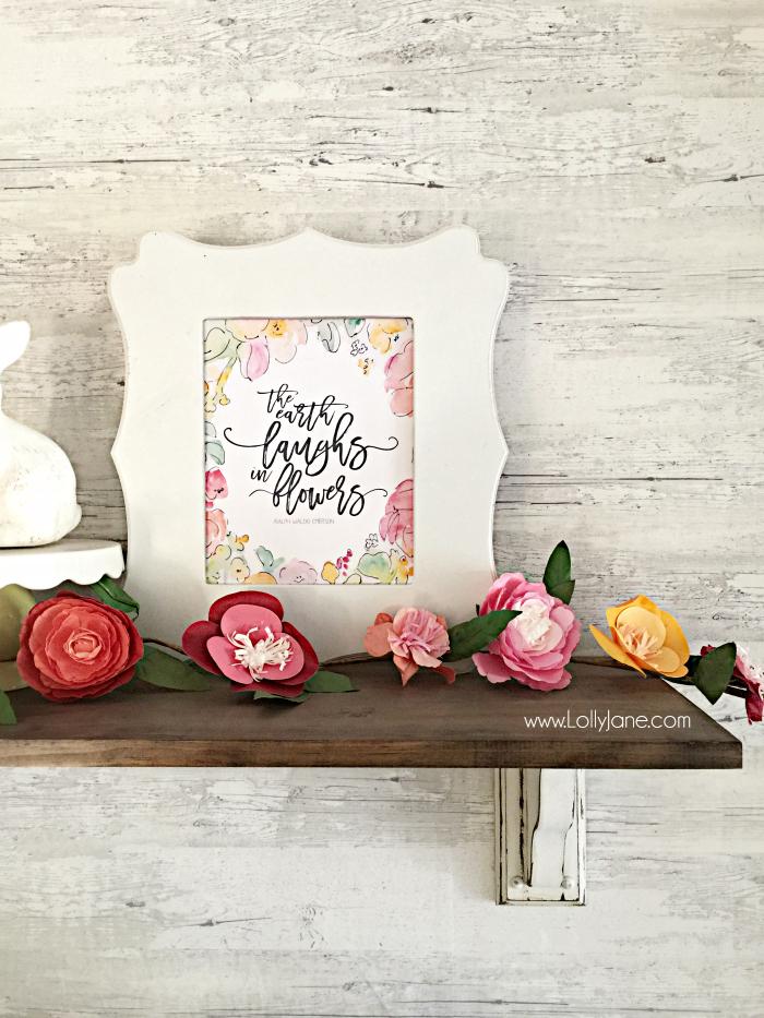 free printable spring art - Lolly Jane