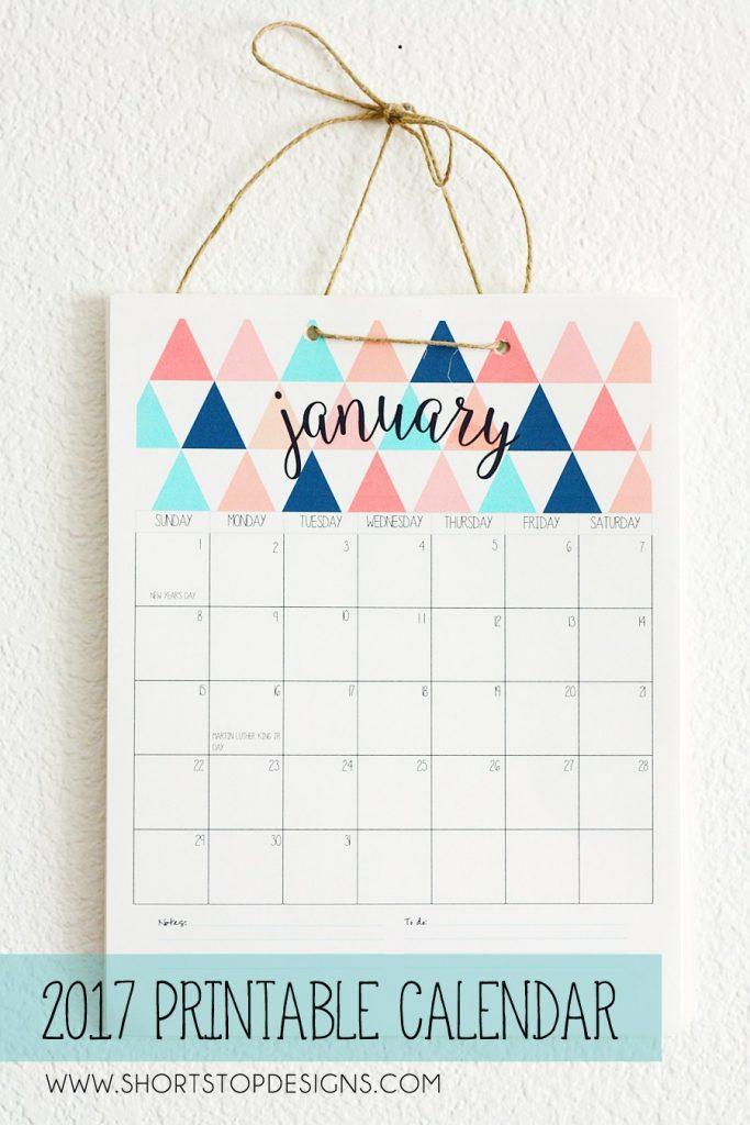 50+ 2017 FREE printable calendars - Lolly Jane - free printable calendar