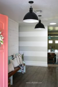 11 diy striped walls | roundup - Lolly Jane