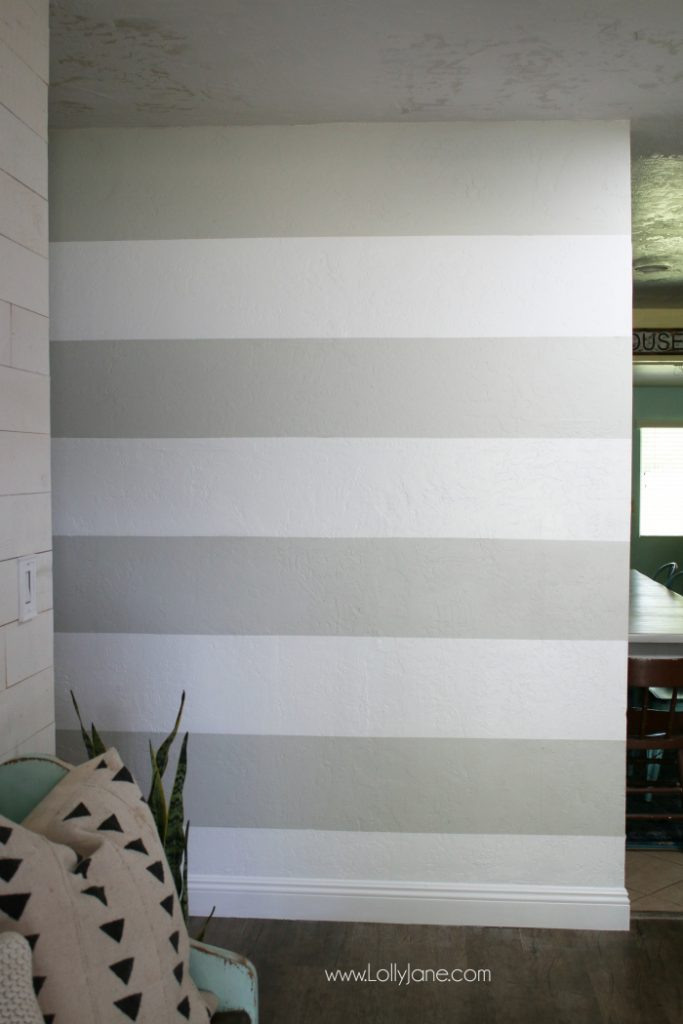 DIY Striped Accent Wall