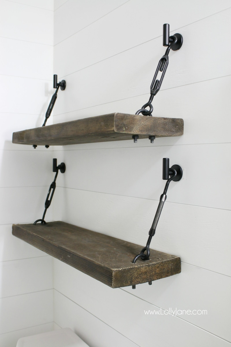 Cheery Bathroom Shelves Bathroom Wall Shelves Images Diy Turnbuckle Shelf Diy Turnbuckle Shelf A Bathroom Addition Lolly Jane S bathroom Images Of Bathroom Shelves