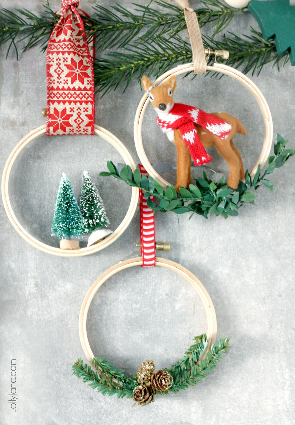 Diy Christmas Ornaments Easy Embroidery Hoop Christmas Ornaments Lolly Jane