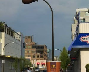 McDonalds Coffee Lamp Post