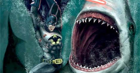 Batman With A Lightsaber Vs. Shark