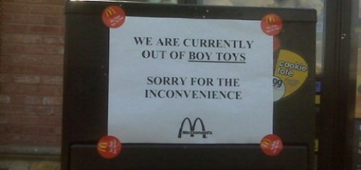 McDonalds Has No Boy Toys