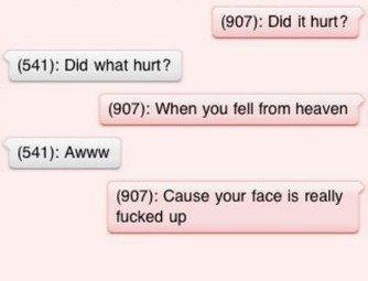 did it hurt when you fell from heaven jokes