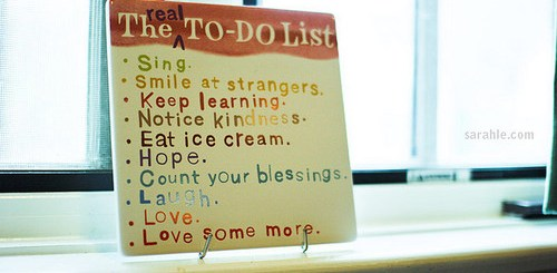 Your REAL To-Do List