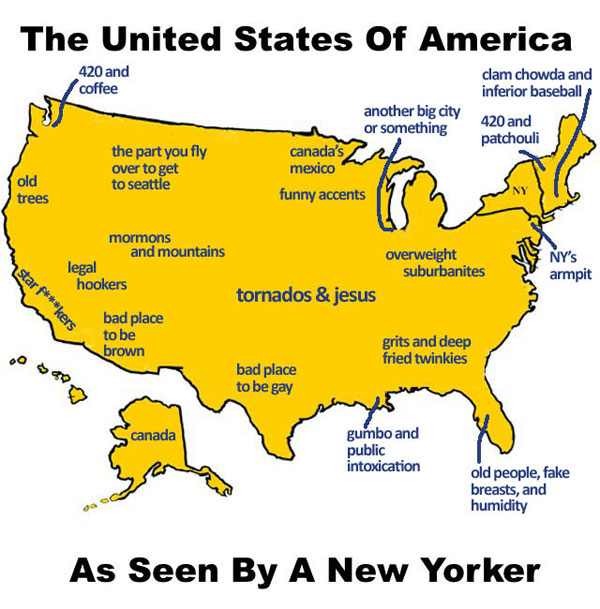 United States as seen by a New Yorker