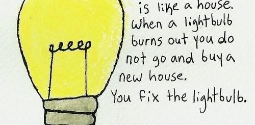 Relationship Light Bulb