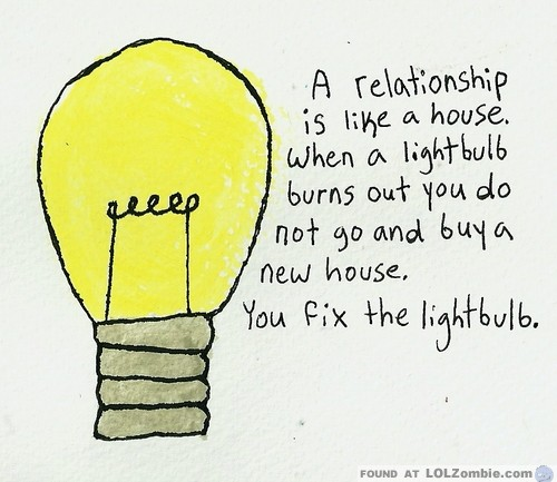 Relationship Light Bulb