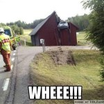 Car in a Barn Crash