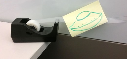 UFO Drawing on Role of Tape