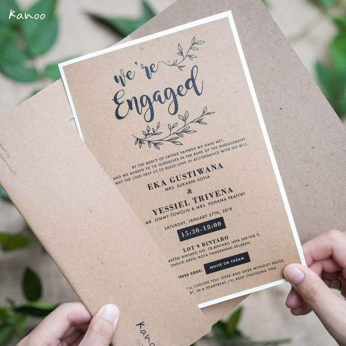 Engagement Invitation by Kanoo Paper  Gift Bridestory