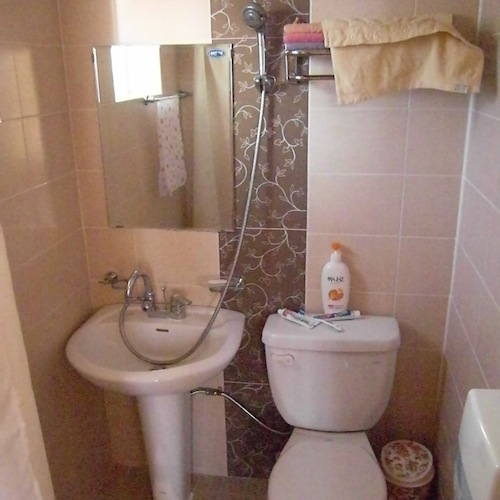 A pension bathroom