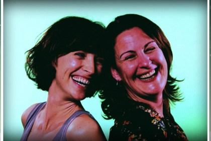 women laughing image