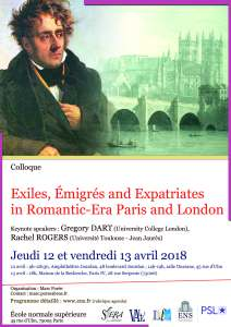 Avril 12 2018 Affiche exiles paris Londres