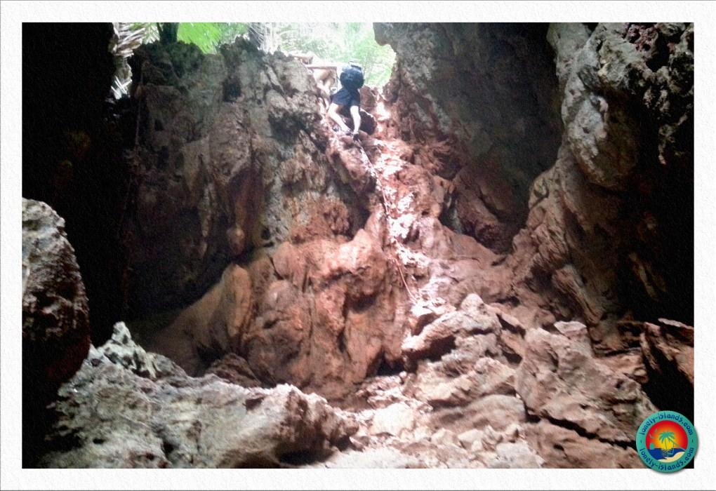 Der Abstieg zur Lagune von Railay