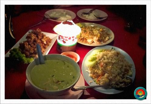 leckere Gerichte der Thaiküche