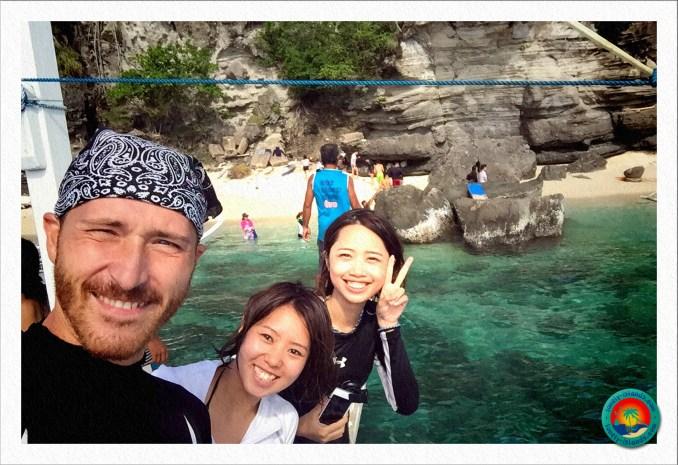 Selfie mit den Schnorchlern von Apo