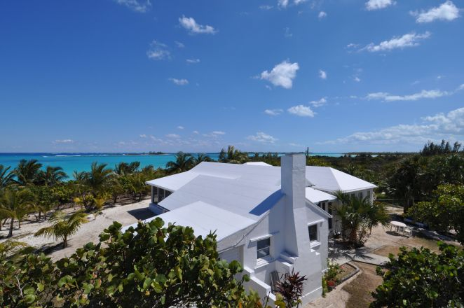 A view of Long Bay House as seen from the tower. It is just a couple hundred feet from the back door and over the dune to the beach.