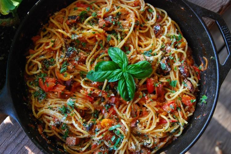 Sausage and zucchini pasta