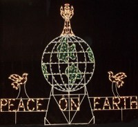 Long's Outdoor Christmas Displays - Peace Decorations