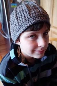 Men's snowboard crochet hat