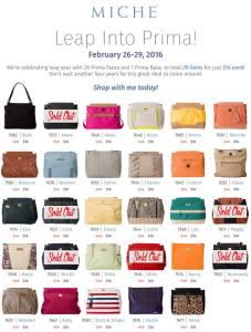Prima Bag on sale now