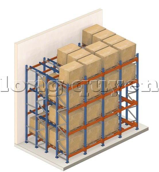 Giá Kệ Để Pallet Sàn Đẩy (Push Back Rack) (4)