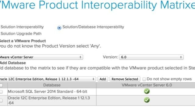 VMware Interop Matrix DB 2015-04-11_16-48-31