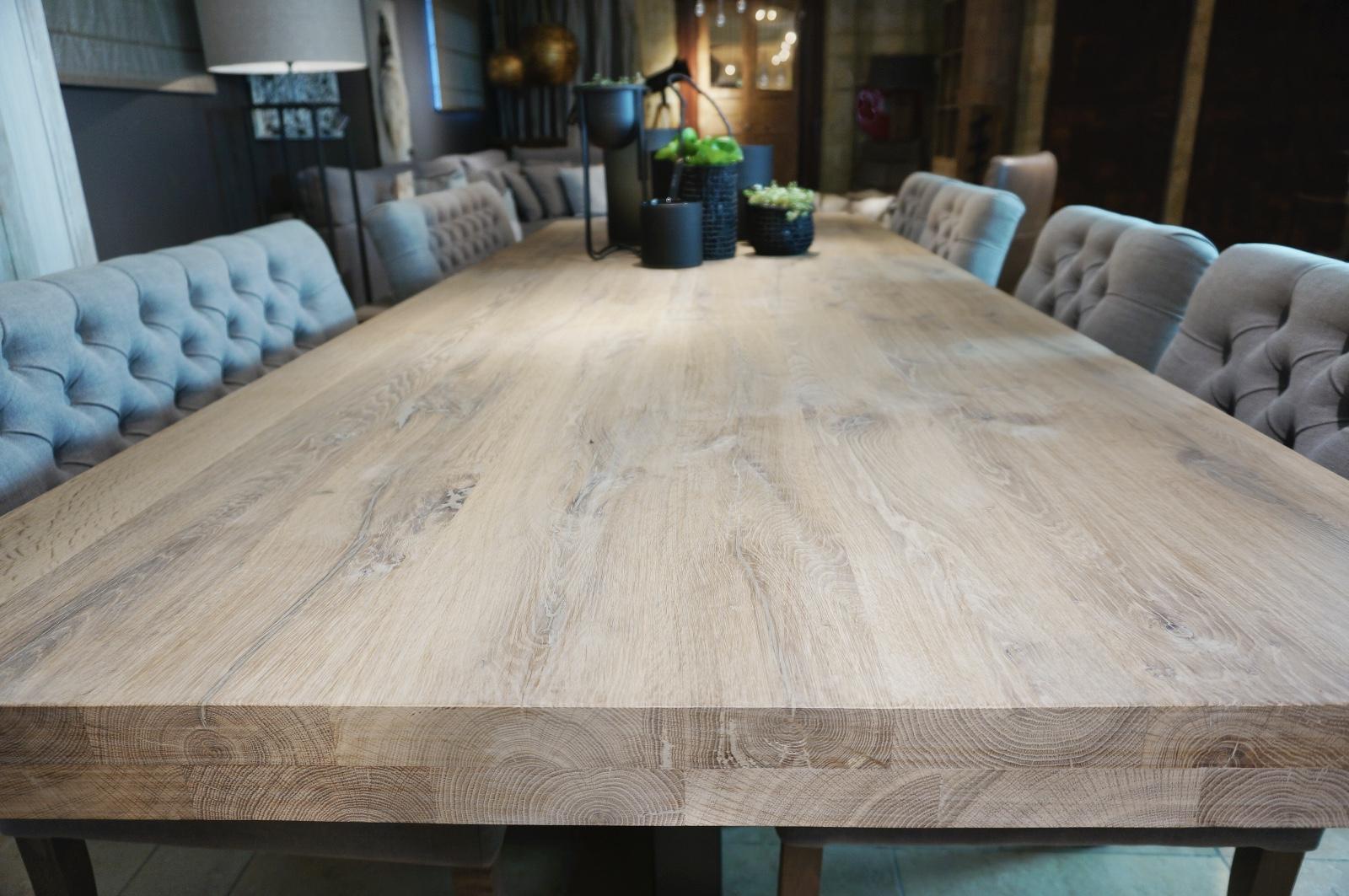 Eiken tafel tweedehands tafelblad hout tweedehands great