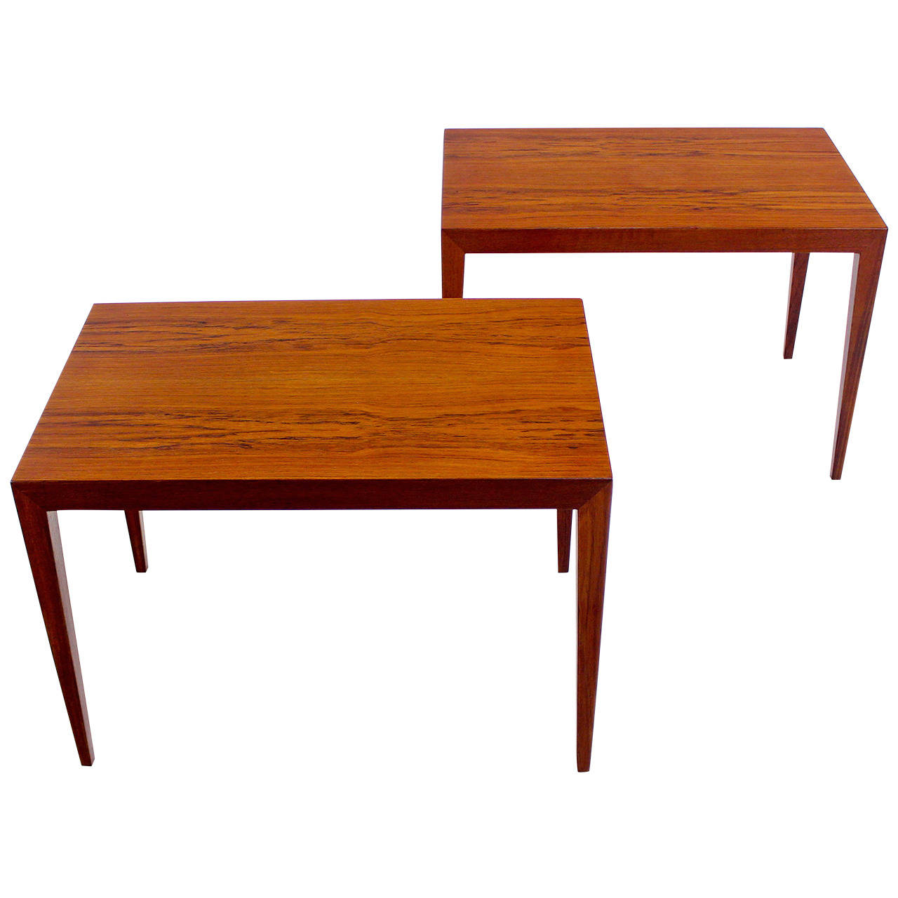 Danish Modern End Table Extraordinary Pair Of Danish Modern End Tables Designed By