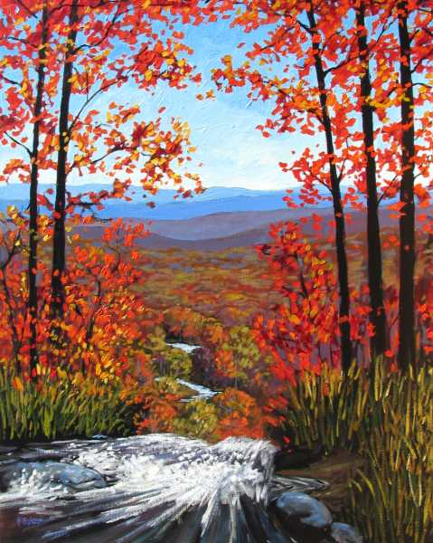 Wallpaper Images Of Fall Trees Lined Lake Fine Art By Patty Baker Original And Commissioned