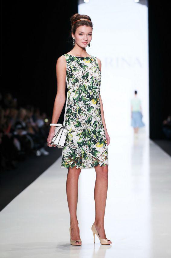 летнее платье-футляр фото