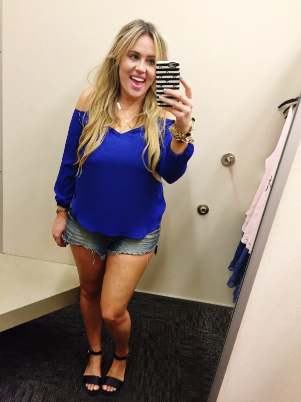Nordstrom rack, dressing room, dressing room dilemma, ootd, summer style, summer fashion, rack, rack style