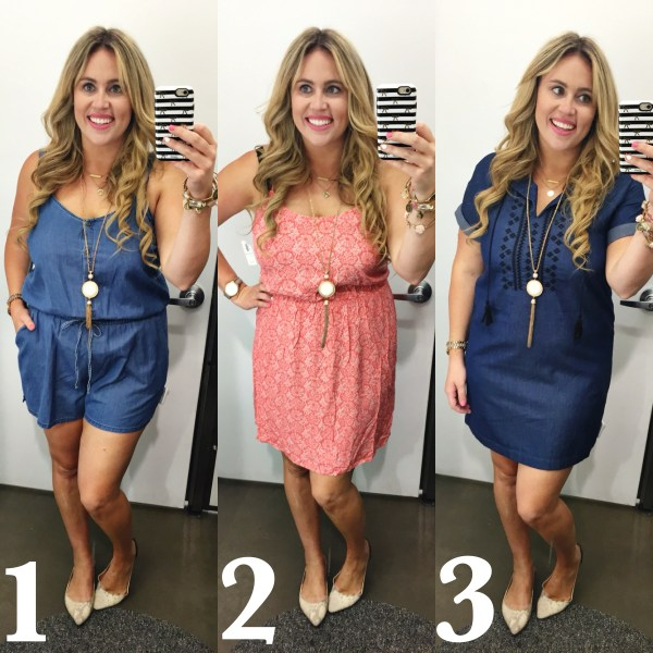 Denim dress, denim romper, ootd, old navy, fashion, style, fashion blogger, style blogger, old navy style, old navy fashion, dressing room dilemma, dress