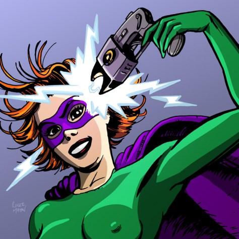 prototypes_electric_get hype records_superheroine_taser_roger mason_record cover_mpeg artwork_