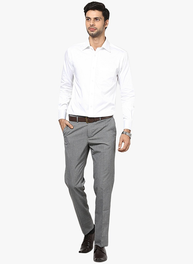 Grey Colour Formal Pant Men 39;s Guide To Perfect Pant Shirt Combination Looksgud In
