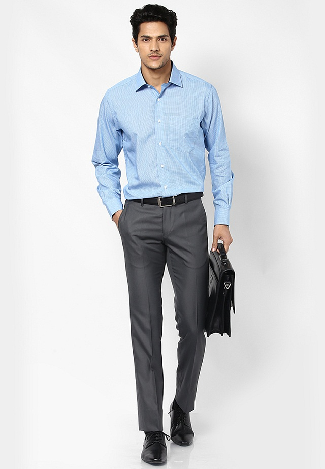 Grey Colour Formal Pant Blue Formal Shirt Matching Pant What Makes Blue Formal