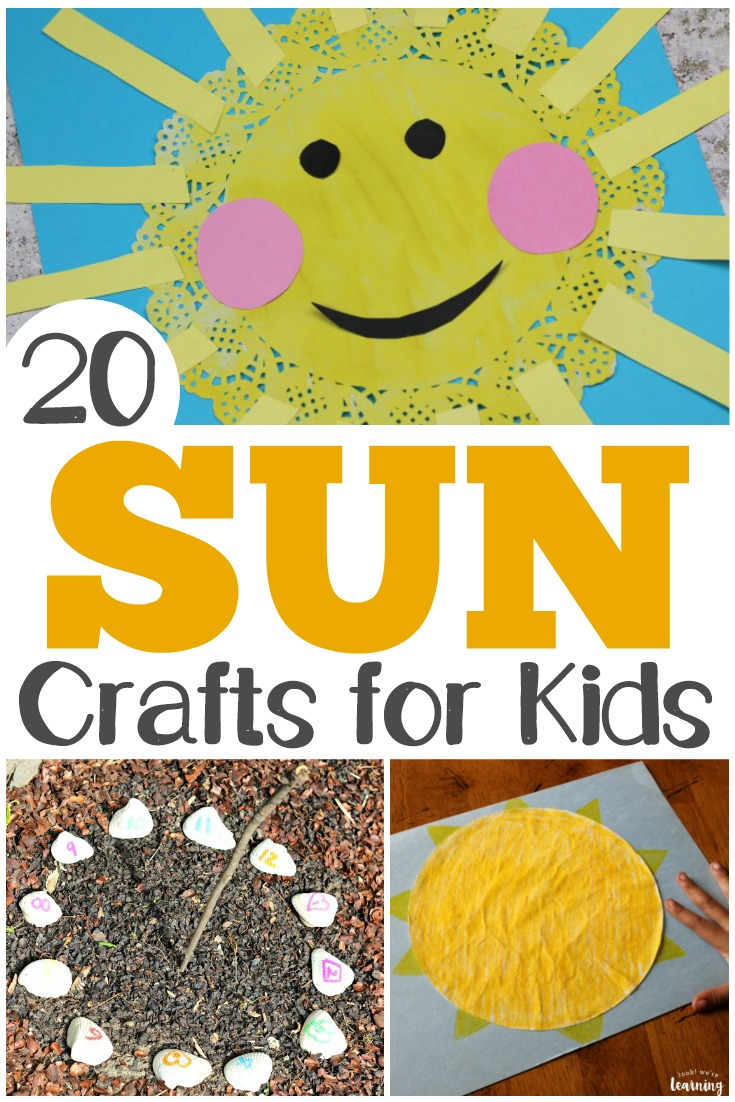 Art And Craft For Preschool 20 Fun And Easy Sun Crafts For Kids Look We Re Learning
